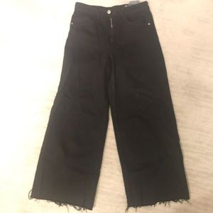 Zara black wide leg jeans